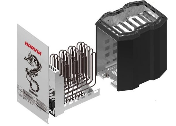 Hình ảnh minh họa cấu tạo máy xông hơi khô